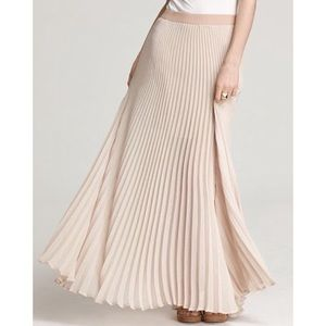BCBGMAXAZRIA Estel Sunburst Pleated Maxi Skirt